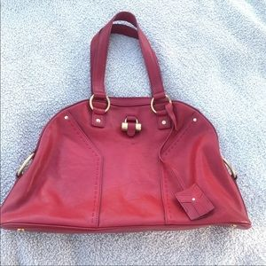 Yves Saint Laurent Muse Large Leather Dome Satchel